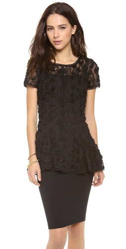 DKNY Short Sleeve Peplum Top at Shopbop / East Dane