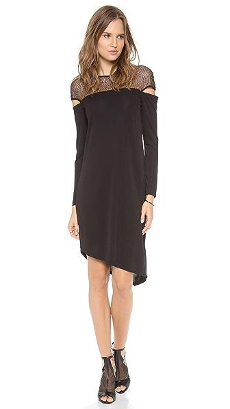 DKNY Asymmetrical Crew Neck Dress