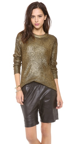 DKNY Foil Printed Long Sleeve Crew Neck Pullover at Shopbop / East Dane