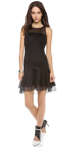 DKNY Flounce Dress with Organza Hem at Shopbop / East Dane