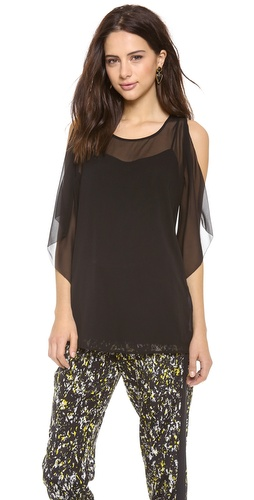 DKNY Flutter Side Sleeveless Top at Shopbop / East Dane