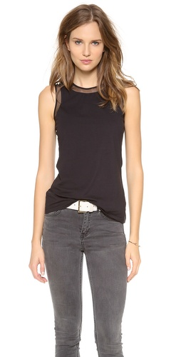 DKNY Mesh Insert Racer Back Tank at Shopbop / East Dane