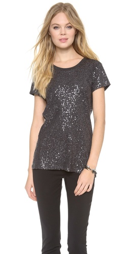 DKNY Sequin Tee at Shopbop / East Dane