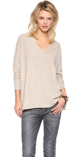 DKNY Drop Shoulder V Neck Pullover at Shopbop / East Dane