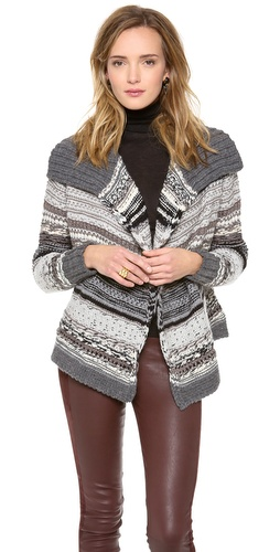 DKNY Pure DKNY Novelty Stitch Cardigan at Shopbop / East Dane