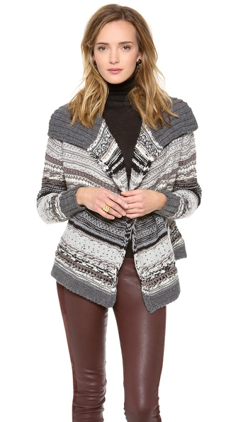 DKNY Pure DKNY Novelty Stitch Cardigan