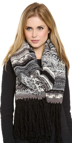 DKNY Pure DKNY Novelty Stitch Scarf at Shopbop / East Dane