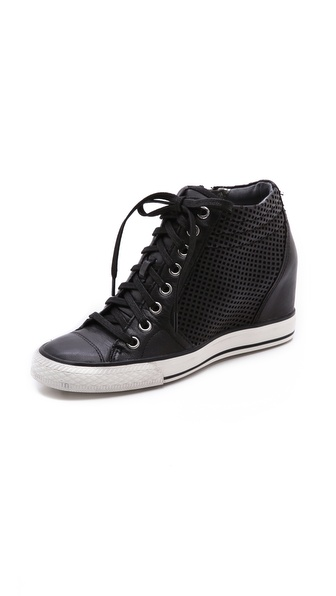 Dkny Cindy Perf Wedge Sneakers - Black at Shopbop / East Dane