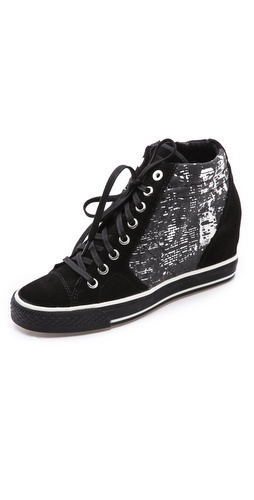 DKNY Cindy Print Wedge Sneakers at Shopbop / East Dane