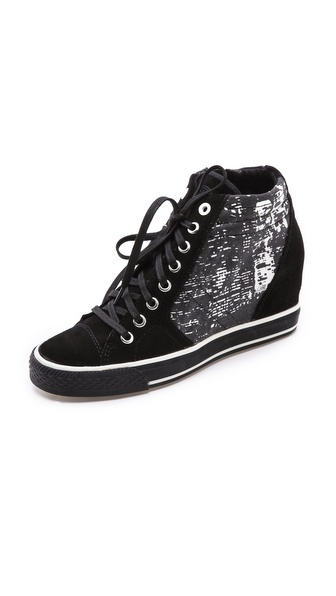DKNY Cindy Print Wedge Sneakers