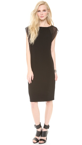 DKNY Dress with Leather Inserts