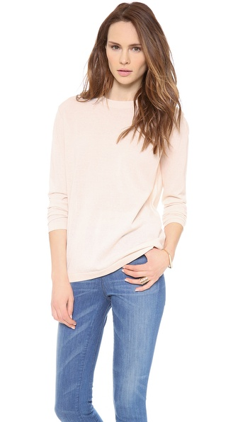 Dkny Long Sleeve Crew Neck Pullover - Tulle at Shopbop / East Dane