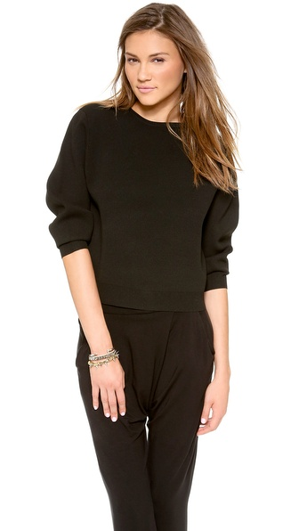 Dkny Crew Neck Pullover - Black at Shopbop / East Dane