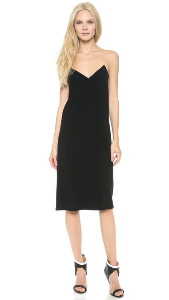 Dkny V Neck Illusion Dress - Black at Shopbop / East Dane