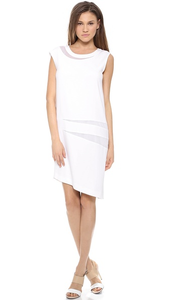 Dkny Asymmetrical Sleeveless Dress - White at Shopbop / East Dane