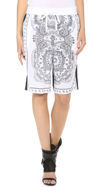 Dkny Drawstring Shorts - White/Black at Shopbop / East Dane
