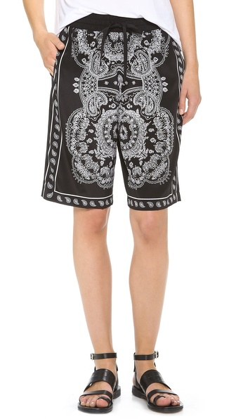 Dkny Drawstring Shorts - Black/White at Shopbop / East Dane