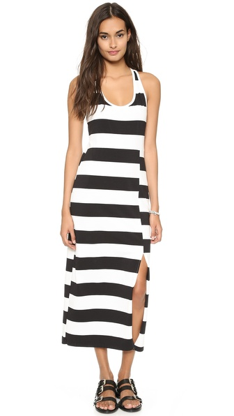 Dkny Racer Back Maxi Dress - Black/White at Shopbop / East Dane