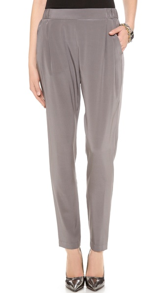 Dkny Pull On Pleated Pants - Techno at Shopbop / East Dane
