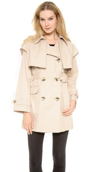 Dkny Long Sleeve Trench Coat - Chino at Shopbop / East Dane