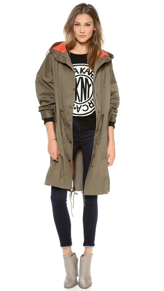 Dkny Long Sleeve Zip Anorak - Surplus/Pulse at Shopbop / East Dane