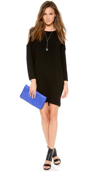 Dkny Bracelet Sleeve Cold Shoulder Dress - Black at Shopbop / East Dane
