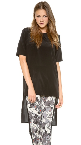 Dkny Short Sleeve Tunic - Black at Shopbop / East Dane