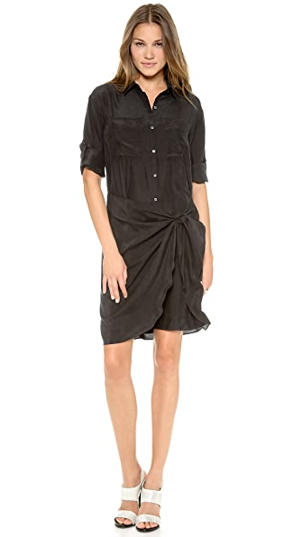 DKNY Sarong Button Thru Shirtdress