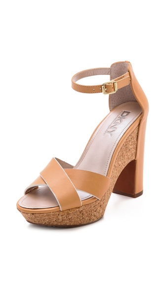 Dkny Willa Ankle Strap Platform Sandals - Natural at Shopbop / East Dane