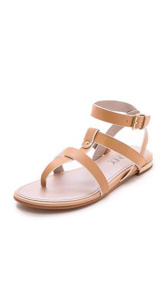 DKNY Flor Multi Strap Flat Sandals