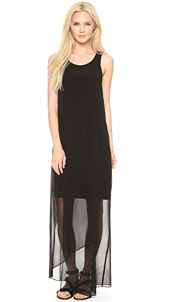 DKNY Faux Wrap Maxi Dress