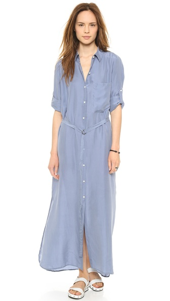 DKNY Pure DKNY Maxi Shirt Dress