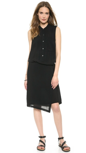 DKNY Pure DKNY Wrap Shirtdress