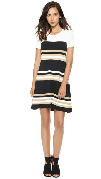 DKNY Striped Sweater Dress