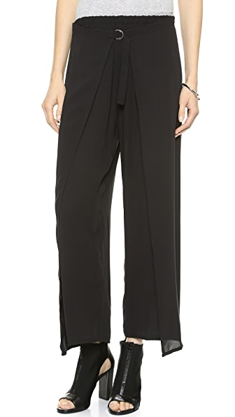 DKNY Pure DKNY Wide Leg Wrap Pants