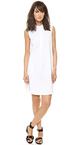 DKNY Sleeveless Half Placket Dress