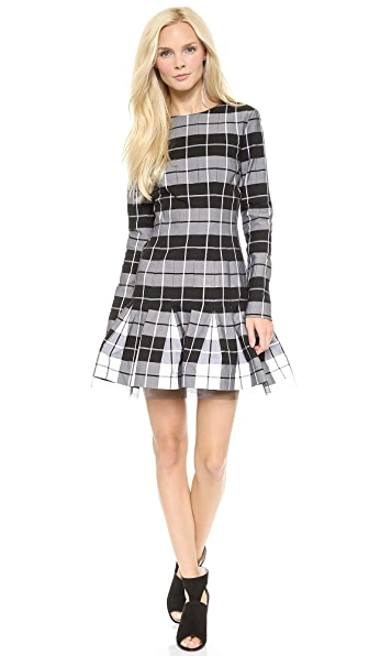 DKNY Long Sleeve Crew Neck Dress