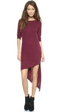 DKNY Asymmetrical Long Sleeve Dress