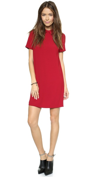 DKNY Short Sleeve Shift Dress