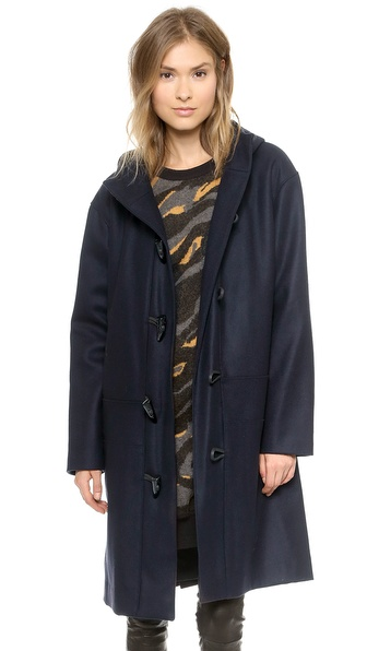 DKNY Hooded Toggle Coat