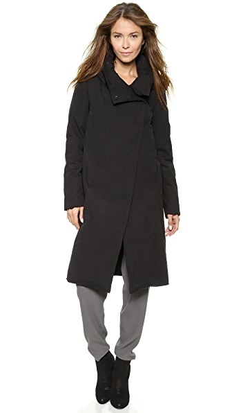 DKNY Pure DKNY Asymetrical Snap Front Coat