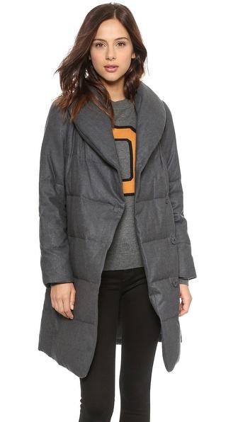 DKNY Pure DKNY Wool Puffer Coat