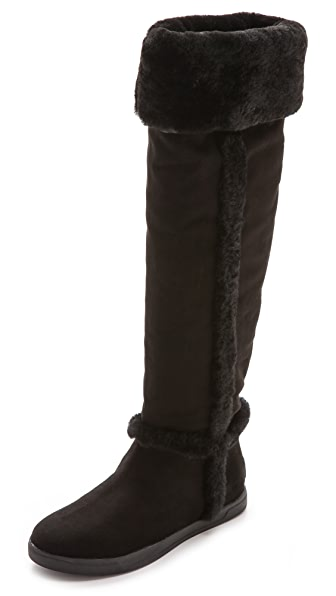 DKNY Bard Tall Fur Lined Boots