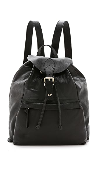 Dkny Dkny Leather Backpack (Black)