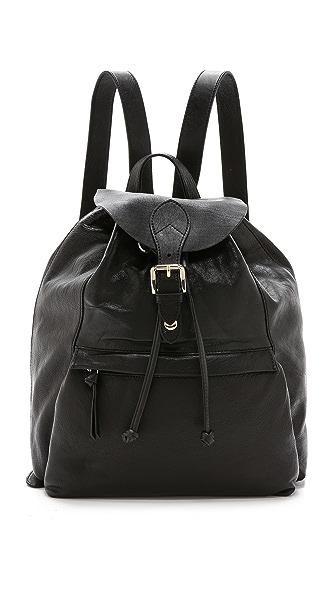 Dkny Dkny Leather Backpack (Black)