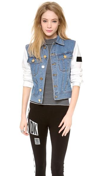 DKNY x Opening Ceremony Jacket with Sweatshirt Sleeves