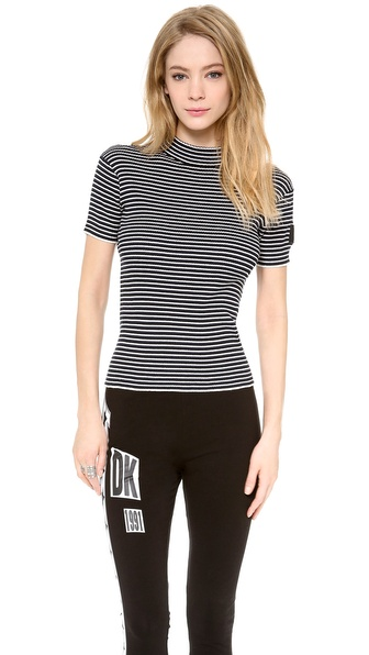 DKNY x Opening Ceremony Striped Short Sleeve Pullover
