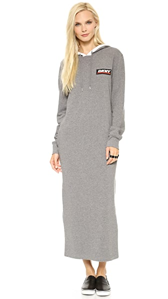 DKNY x Opening Ceremony Long Sleeve Hooded Maxi Dress