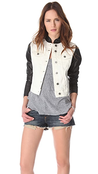 DL1961 Rocky Denim & Leather Jacket