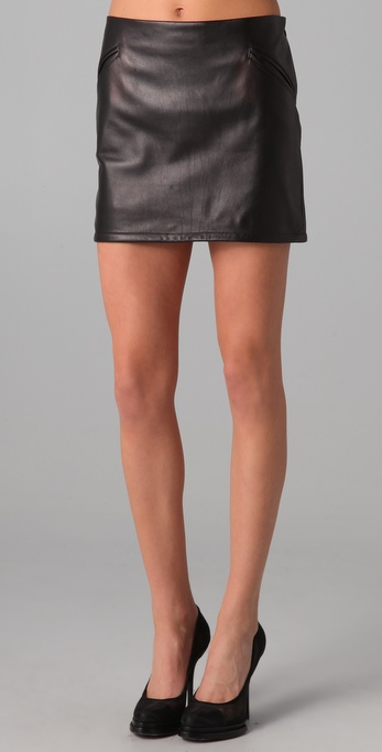 David Lerner Leather Skirt